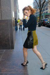 Bella Thorne Leggy in Mini Skirt - Out in New York City, 12/15/2015