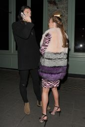 Billi Mucklow - at Sexy Fish Restaurant in Mayfair in London With Her Fiance Andy Carroll
