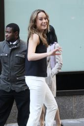 Brie Larson - Heads to Today Show in New York 12/21/2015