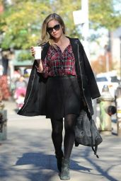 Brittany Snow Casual Style - Shopping in Brooklyn, 12/2/2015