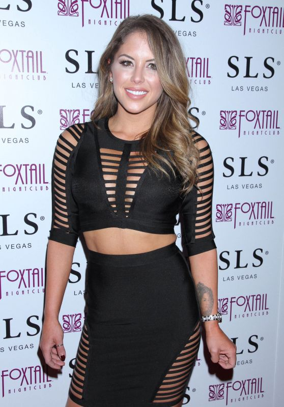 Brittney Palmer - Arrives at Foxtail Club in Las Vegas, 12/13/2015