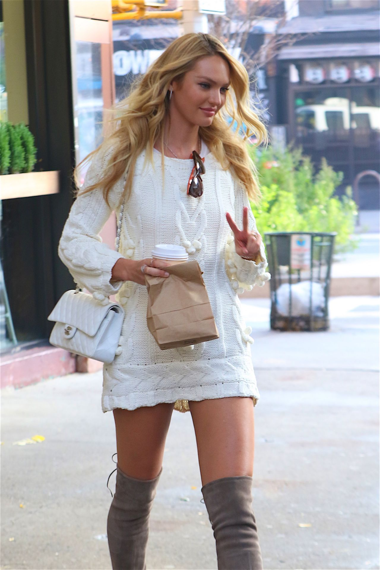 candice swanepoel visits the today show in nyc