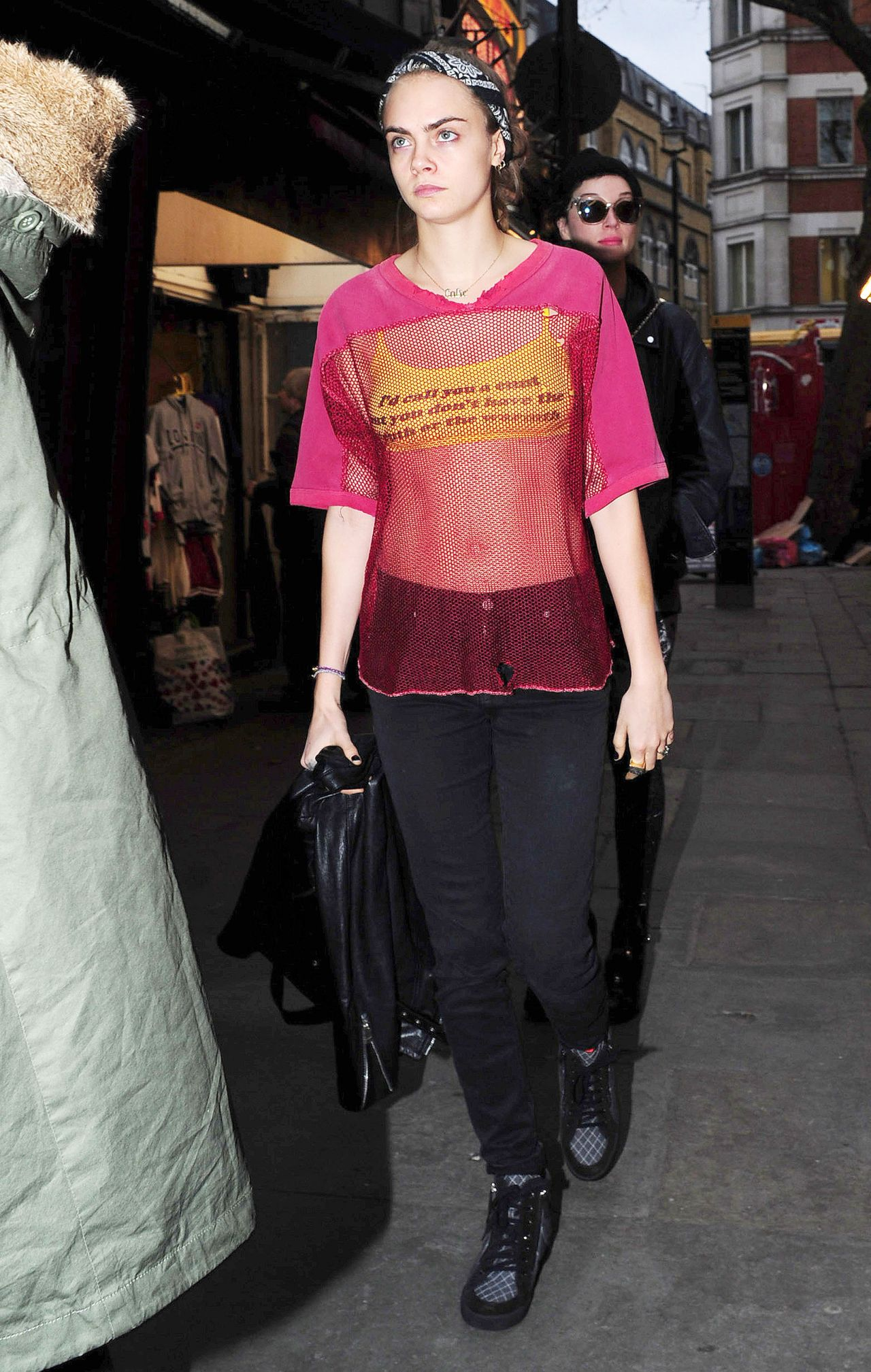 Cara Delevingne Fashion Style - Leaving Her Hotel in NYC 8
