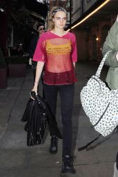 Cara Delevingne Casual Style - Out in London, December 2015
