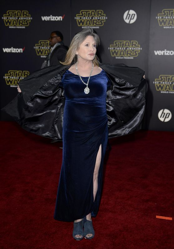 Carrie Fisher – Star Wars: The Force Awakens Premiere in Hollywood
