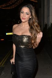Casey Batchelor Style - at the Sexy Fish Restaurant in London, December 2015