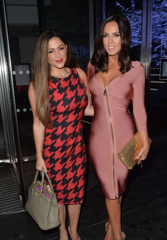 Casey Batchelor & Vicky Pattison - Night Out in Mayfair in London, December 2015