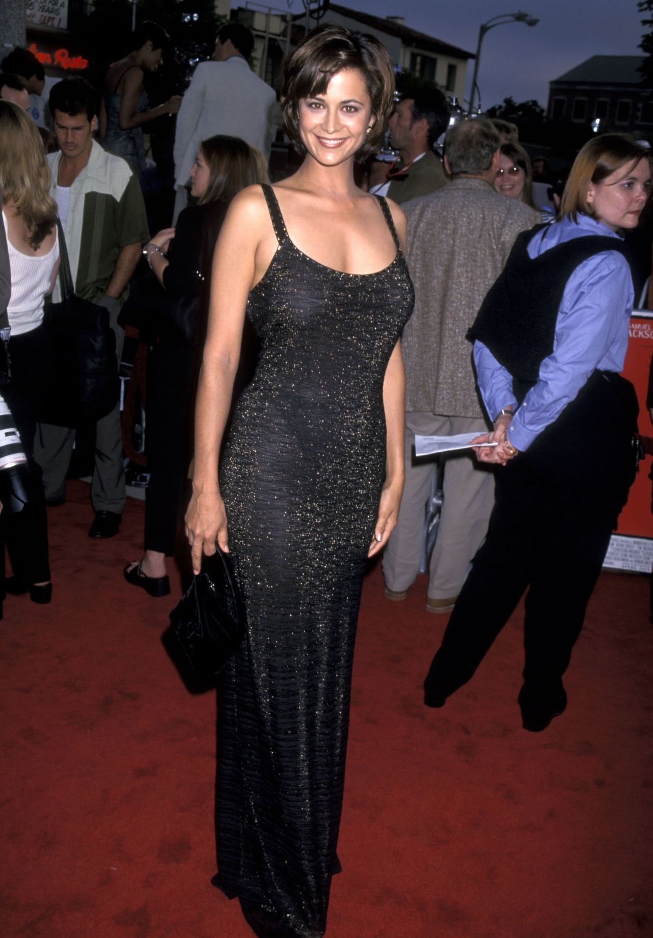 Catherine Bell on Red Carpet - 'The Negotiator' Premiere