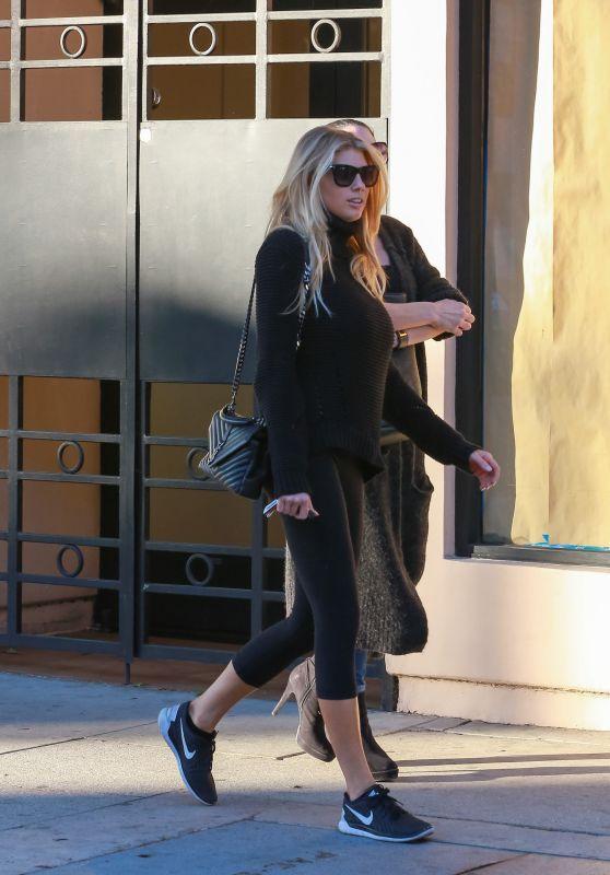 Charlotte McKinney in Leggings - Out in Los Angeles 12/15/2015