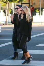 Charlotte McKinney in Leggings - Out in Los Angeles 12/15/2015