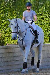Chloë Moretz - Riding a Horse in Los Angeles, December 2015