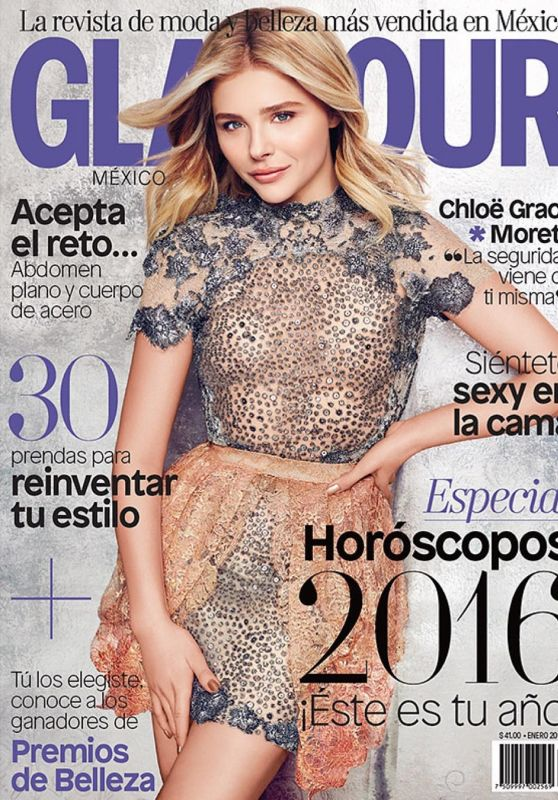 Chloe Grace Moretz - Glamour Magazine Cover Mexico January 2016