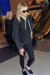 Chloe Moretz Airport Style - LAX in Los Angeles, 12/12/2015