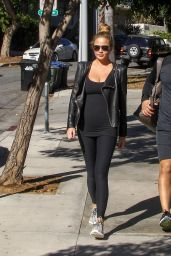 Chrissy Teigen in Leggings - Out in Los Angeles, December 2015