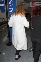 Christina Hendricks at LAX Airport, December 2015