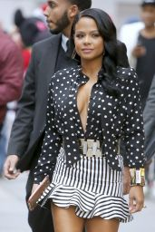 Christina Milian at the TV show