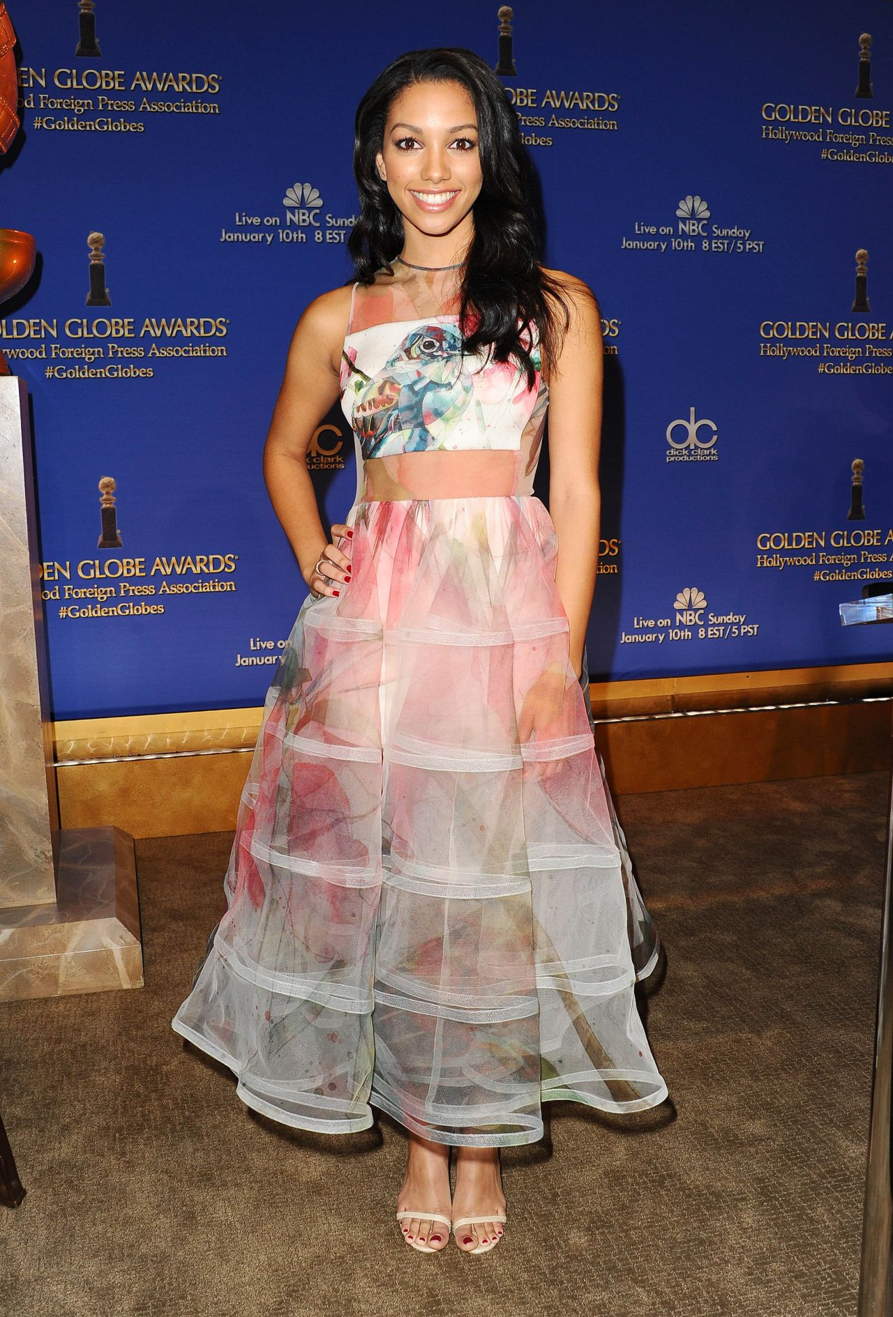 Corinne Foxx 2015 Golden Globe Nominations In Los Angeles