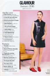 Daisy Ridley - Glamour Madgazine UK January 2015 Issue