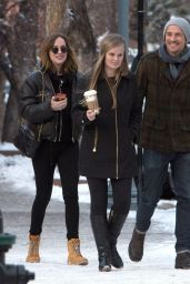 Dakota Johnson Winter Style - Out in Aspen 12/19/2015