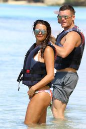 Danielle Lloyd and beau Michael - Enjoys a Day of watersports - Barbados 12/17/2015
