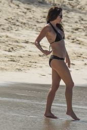 Danielle Lloyd Bikini Candids - Beach in Barbados, December 2015