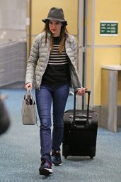 Danielle Panabaker at Vancouver International Airport, December 2015