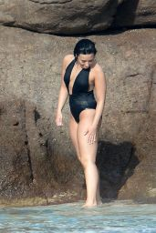 Demi Lovato in Swimsuit in St. Barts 12/16/2015