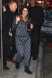 Demi Lovato - Leaving Madison Square Garden in New York City 12/11/2015