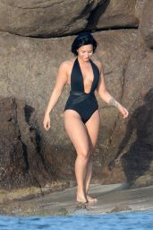 Demi Lovato Wearing a Swimsuit in St. Barts 12/17/2015