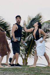 Demi Lovato Wearing a Swimsuit in St. Barts 12/17/2015