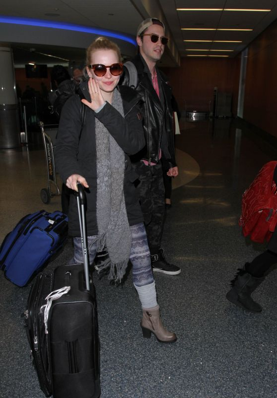 Dove Cameron at LAX in Los Angeles 12/23/2015