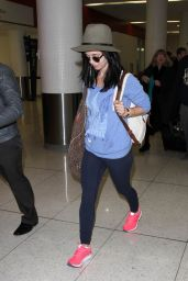 Eliza Dushku Airport Style - at LAX Airport, December 2015
