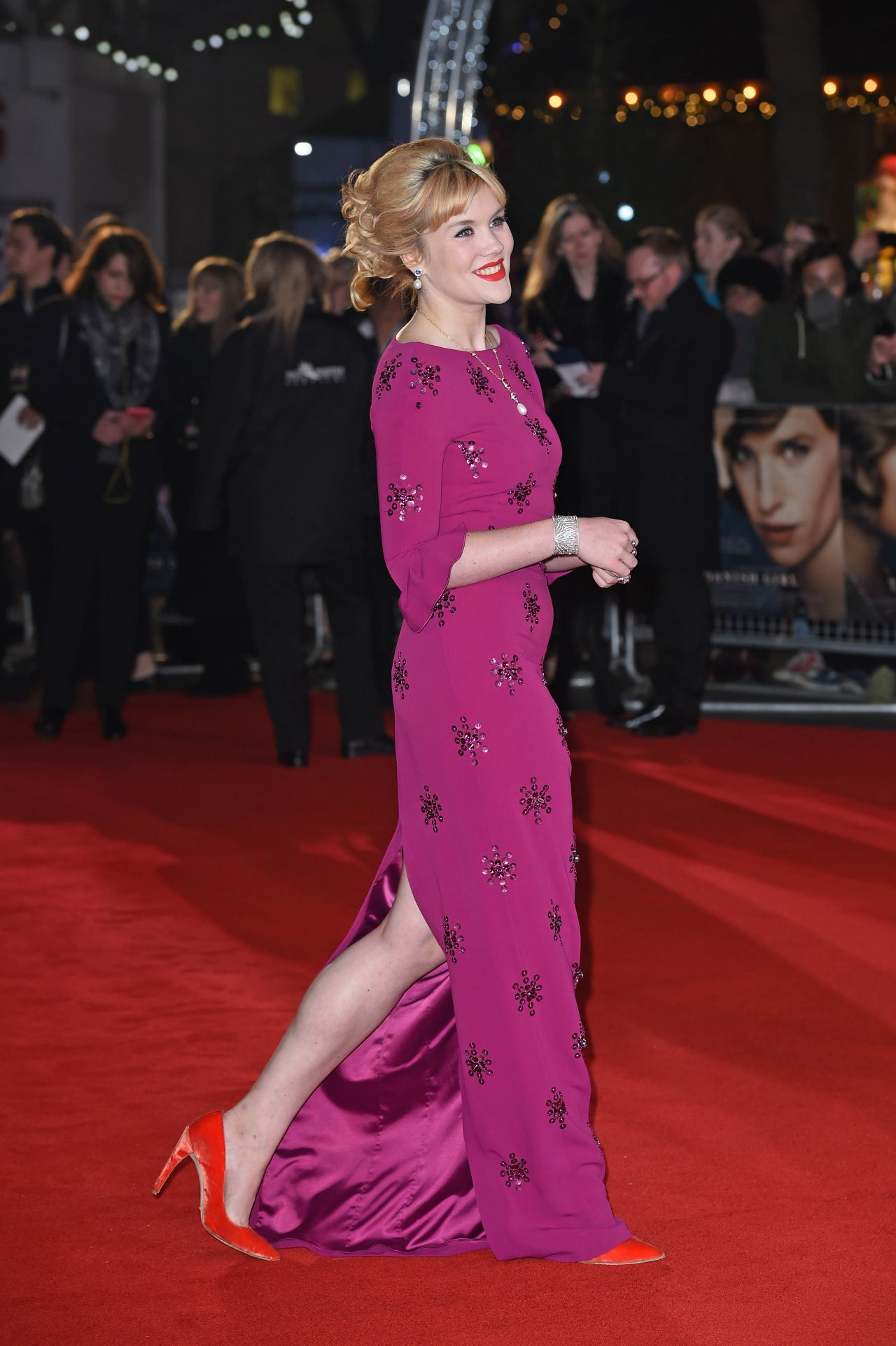 Emerald Fennell on Red Carpet – The Danish Girl Premiere ...