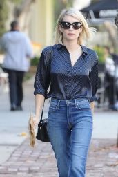 Emma Roberts Street Fashion - Out in Melrose 12/23/2015