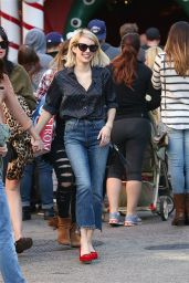 Emma Roberts Street Fashion - Shopping in Los Angeles, December 2015