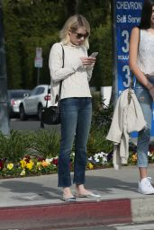 Emma Roberts Street Style - Out in West Hollywood 12/21/2015