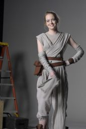 Emma Stone Pics - Saturday Night Live Star Wars Audition Sketch - November 2015