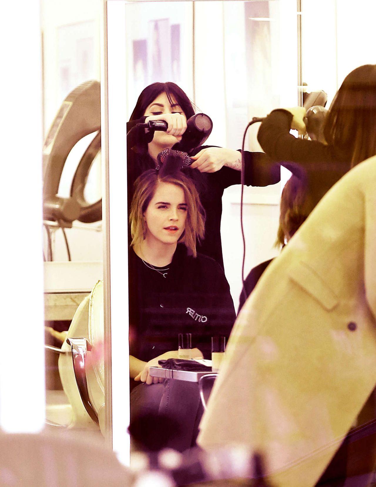 Emma Watson at Hair Salon in New York, December 2015