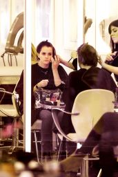 Emma Watson at Hair Salon in New York, December 2015