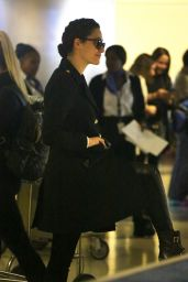 Emmy Rossum at LAX in Los Angeles 12/19/2015