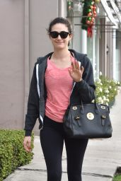 Emmy Rossum in Leggigns - Goes Shopping At The Neil Lane Jewelry Store in West Hollywood, December 2015