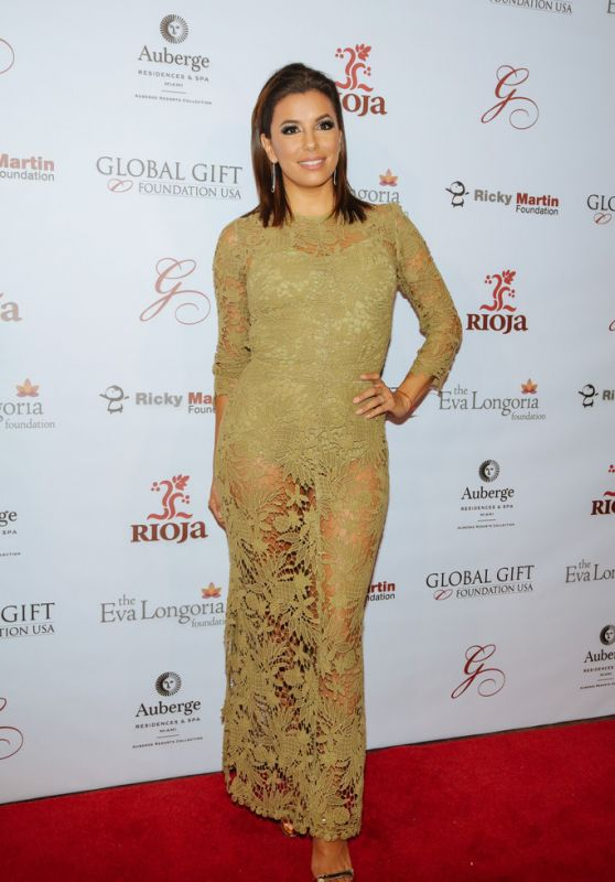Eva Longoria - Global Gift Foundation Dinner in Miami, 12/3/2015