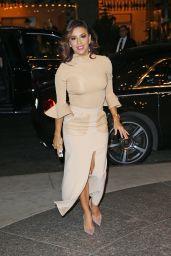 Eva Longoria Style - at Her Hotel in NYC 12/12/2015