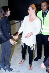 Evangeline Lilly Shows Off Her Natural Beauty - Arrives in Sao Paulo With no Makeup, December 2015