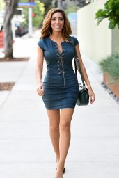 Farrah Abraham Leggy Mini Dress- Santa Monica 12/21/2015
