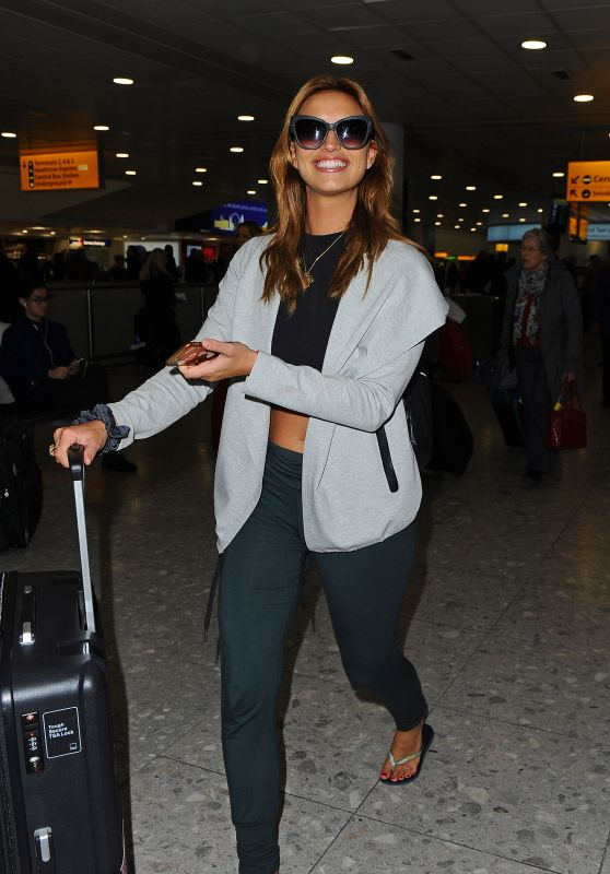 Ferne McCann at London Heathrow Airport, 12/9/2015
