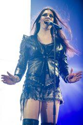 Floor Jansen (Nightwish) Performs at The SSE Arena, Wembley in London 12/19/2015