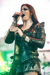 Floor Jansen (Nightwish) Performs at The SSE Arena, Wembley in London 12/19/2015