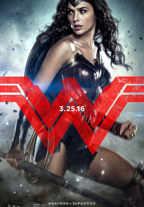Gal Gadot - Batman v Superman: Dawn of Justice Promo Poster