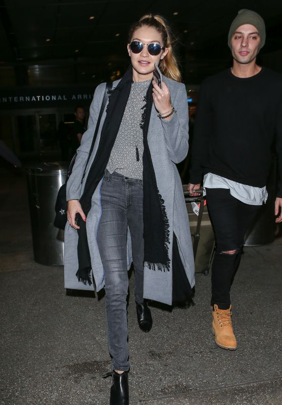Gigi Hadid at LAX Airport, December 2015